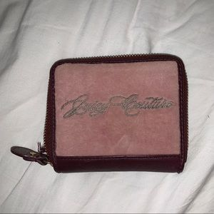 Burgundy and pink velour Juicy Wallet.